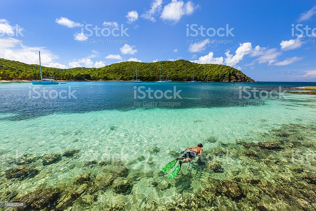 Salt Whistle Bay, Mayreau royalty-free stock photo