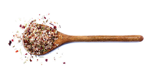 Salt with Chili and Herbs stock photo