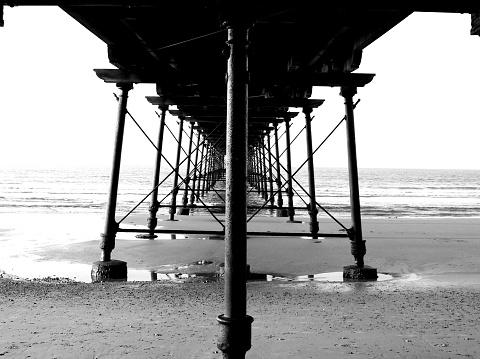 The historic Victorian pier at Saltburn