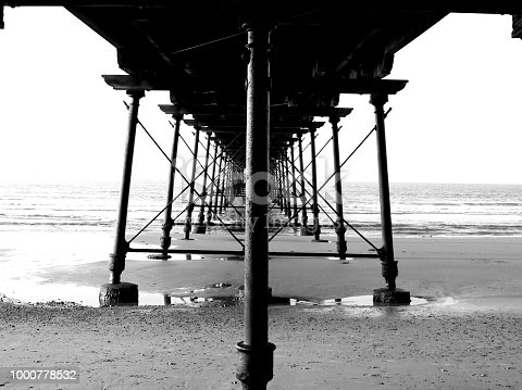 The historic Victorian pier at Saltburn