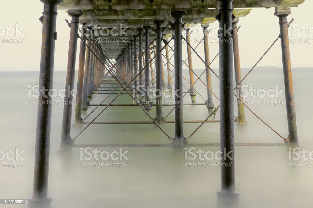 Saltburn Pier stock photo