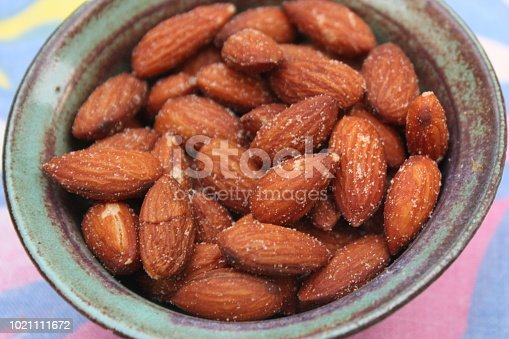 Salted almonds for an aperitif