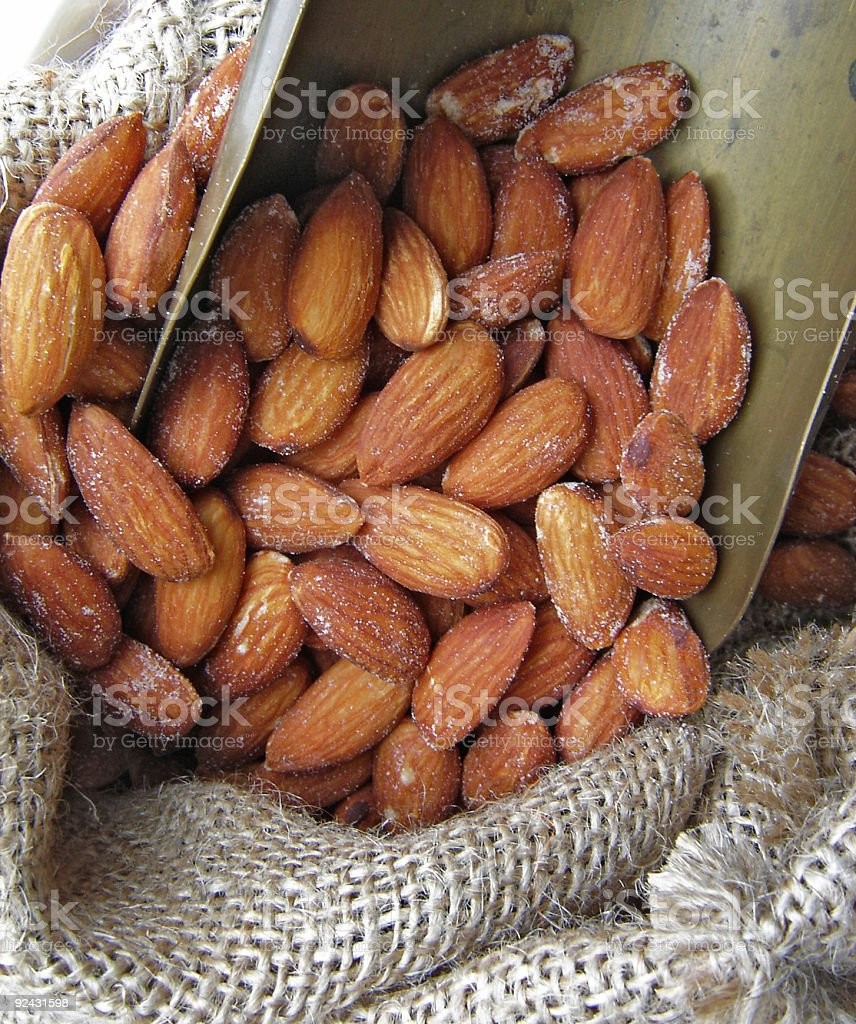 Salted Almonds stock photo