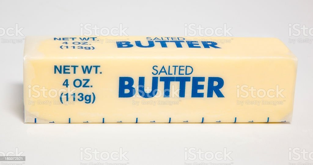 Salted Butter stock photo