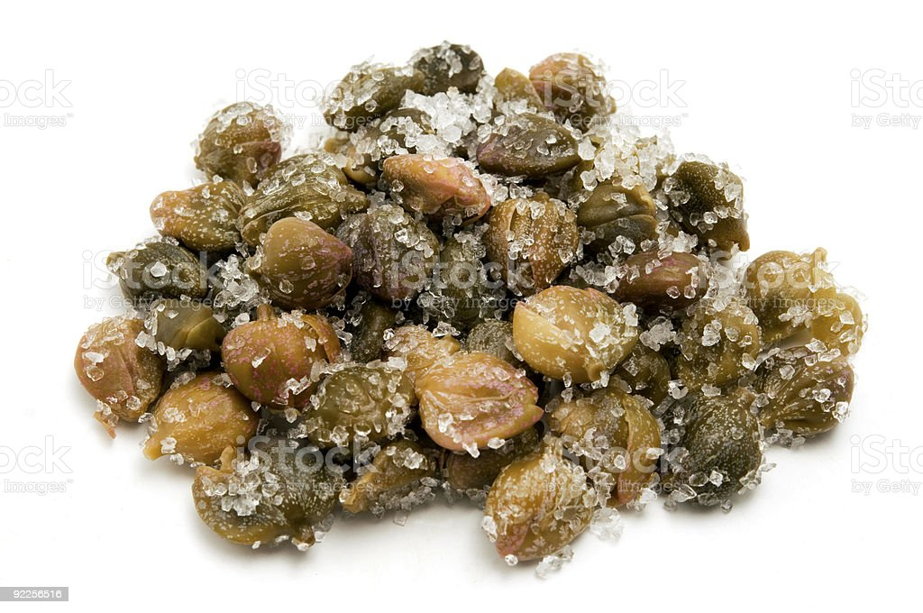 Salted capers royalty-free stock photo