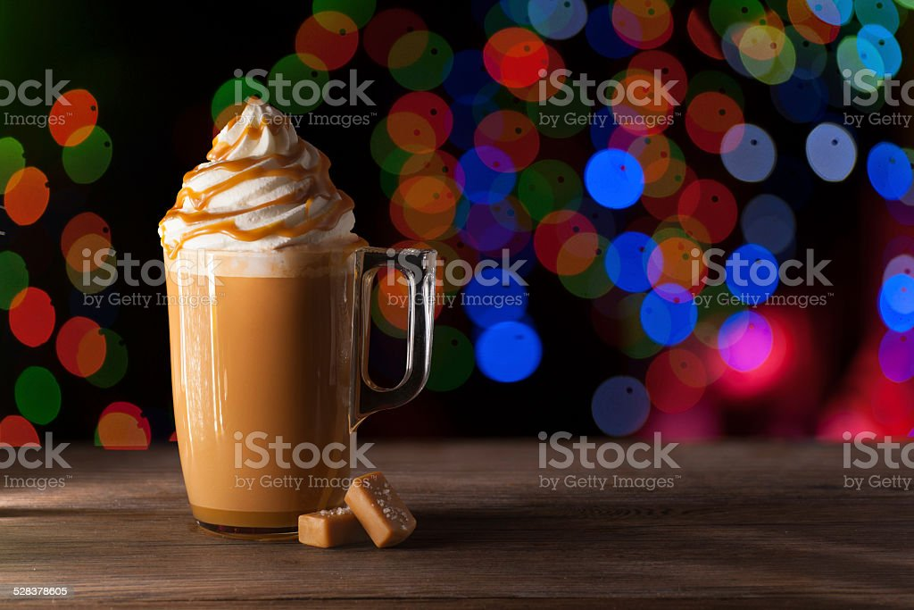Salted Caramel Latte stock photo
