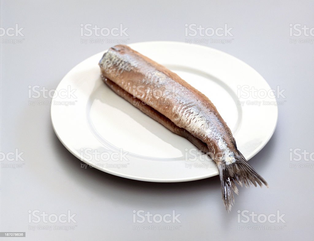 salted herring royalty-free stock photo