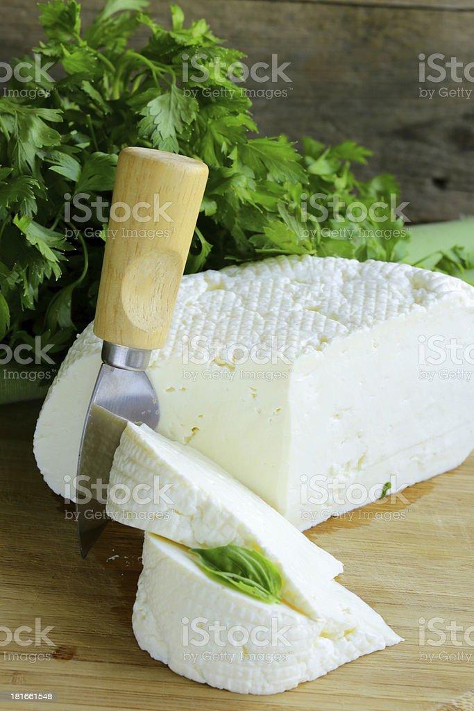 salted milk cheese (feta ) royalty-free stock photo