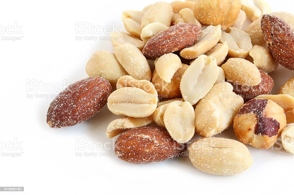 Salted Mixed Nuts stock photo