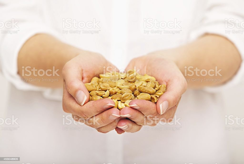 Salted Peanuts for Snack royalty-free stock photo