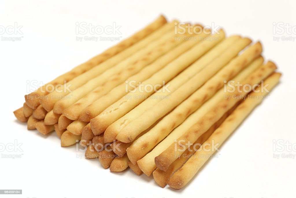 Salted potate pretzels isolated over white background royalty-free stock photo