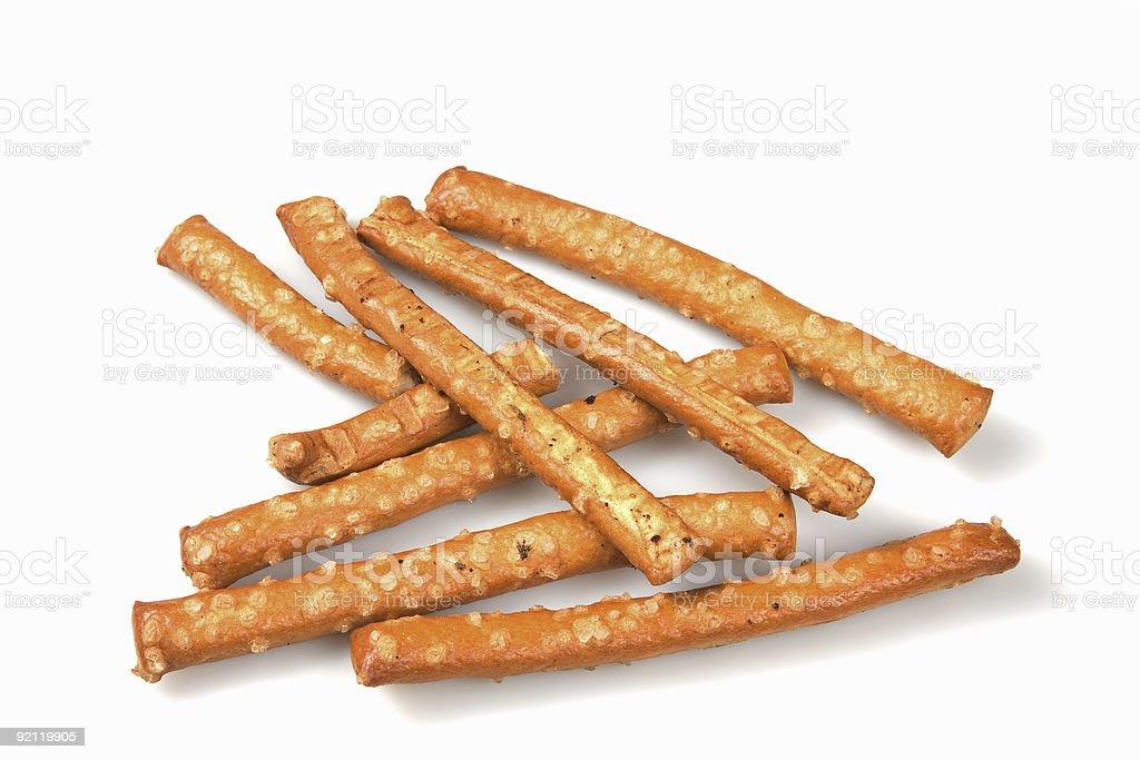 Salted pretzels stock photo