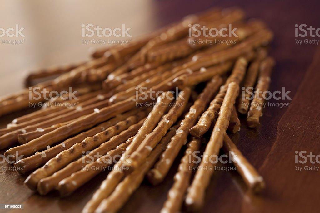 Salted sticks royalty-free stock photo