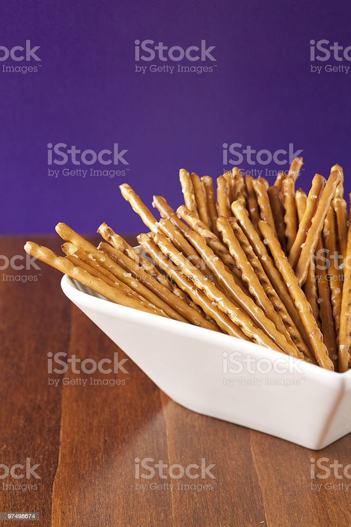 Salted sticks royalty-free stock photo