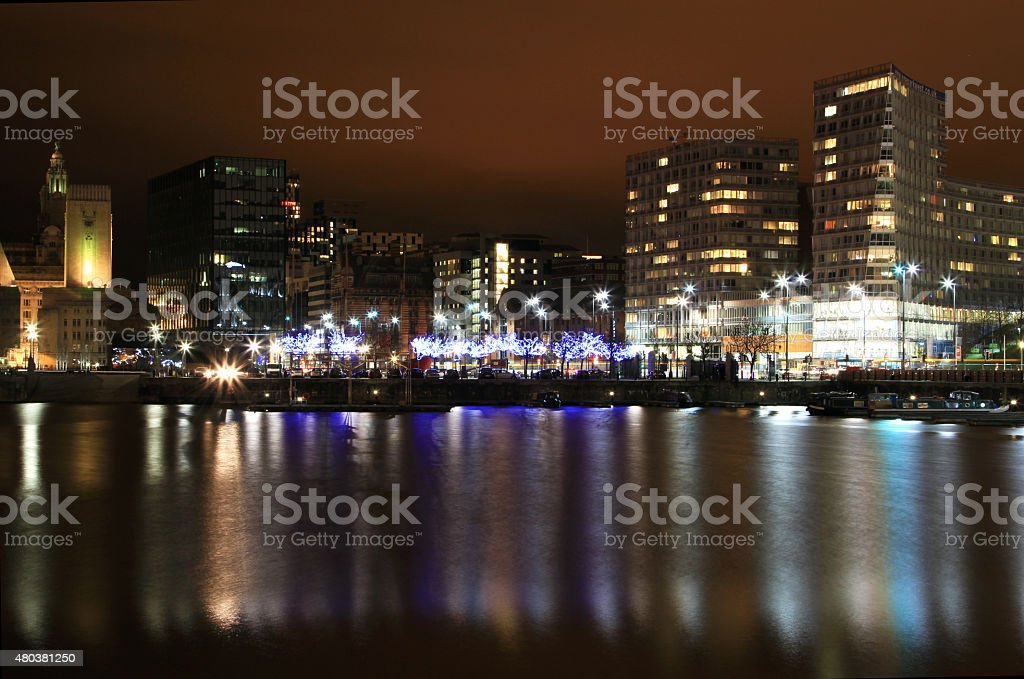 Salthouse Dock Reflection stock photo