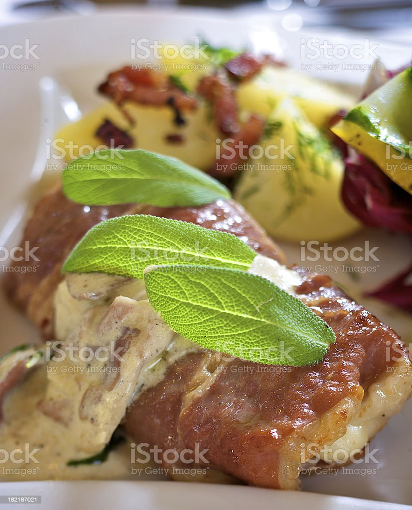 Saltimbocca royalty-free stock photo
