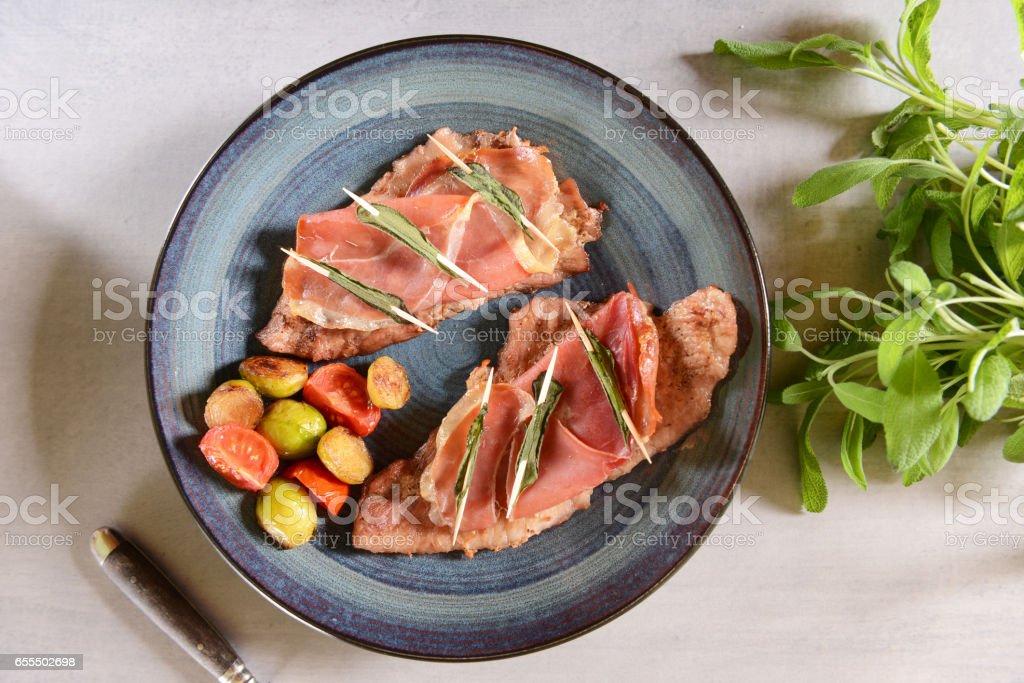 Saltimbocca stock photo