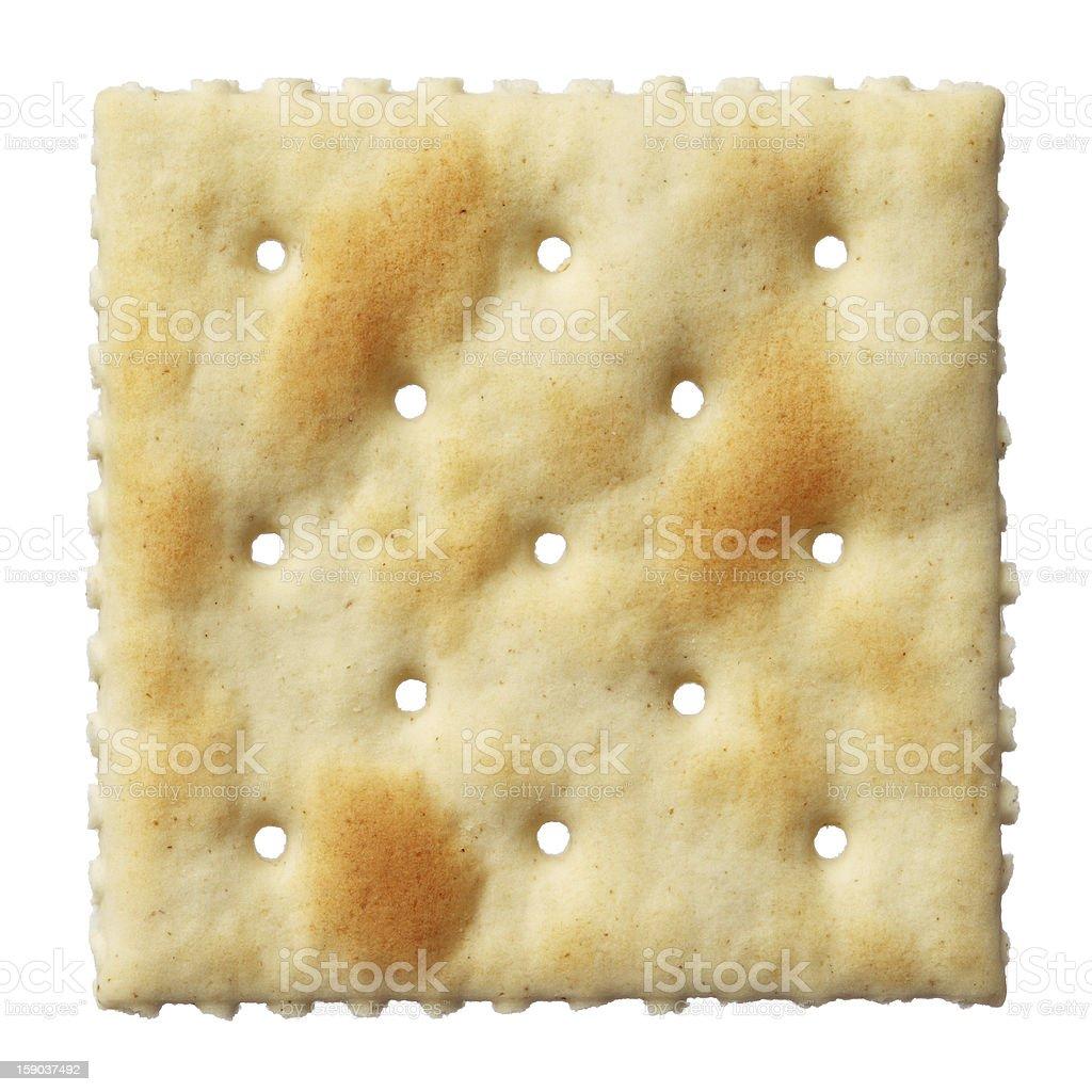 Saltine soda cracker isolated on white background royalty-free stock photo