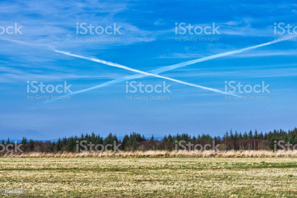 Saltire Chemtrails Over Historic Culloden Battlefield