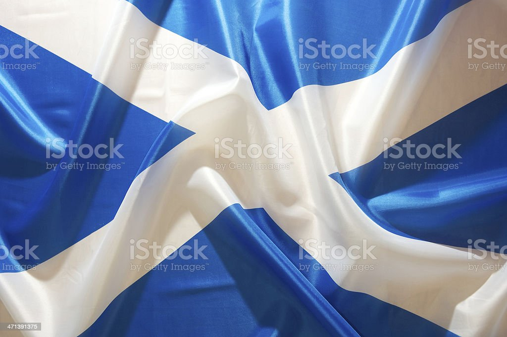 Saltire Flag of Scotland stock photo