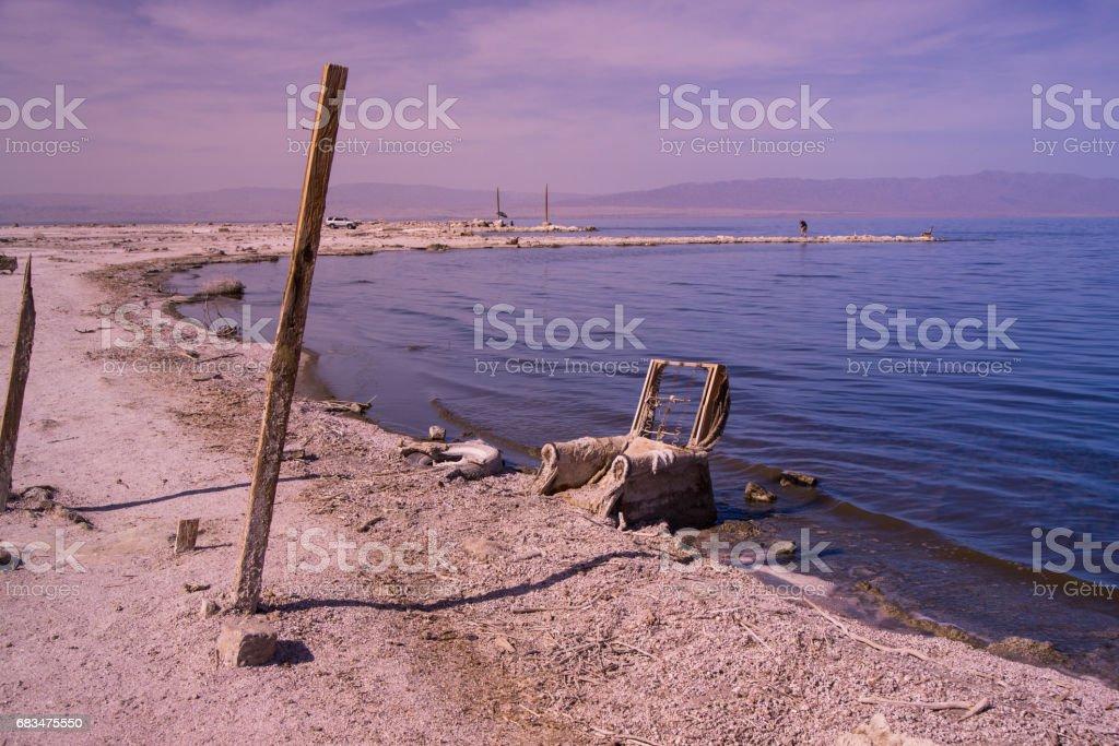 Salton Sea Chair stock photo