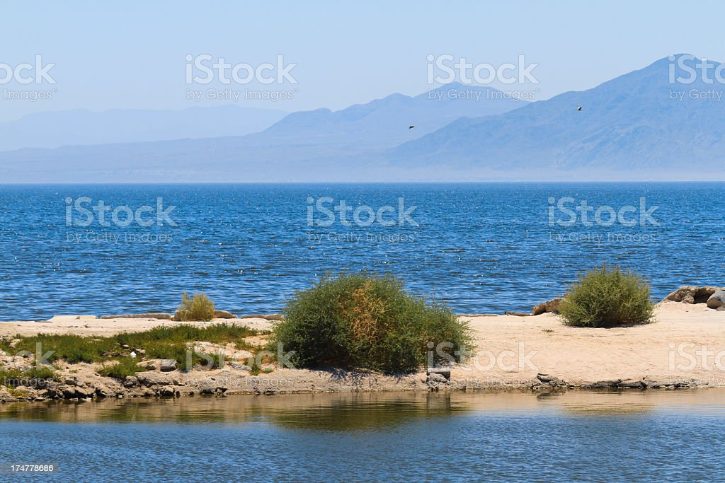 Salton Sea In the California Desert stock photo