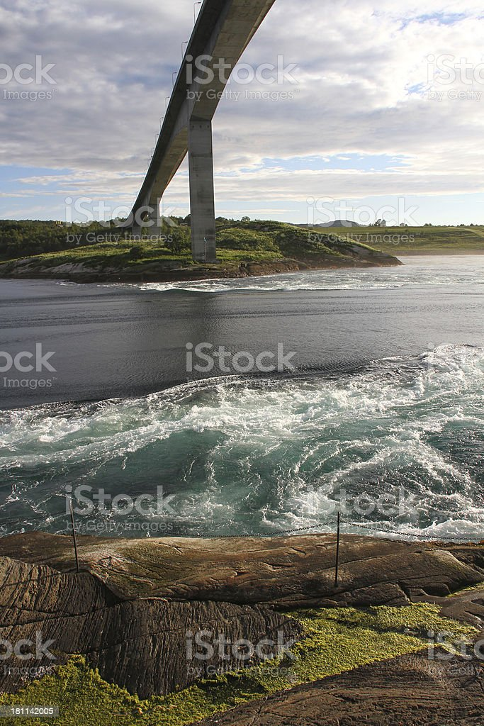 Saltstraumen tidal current royalty-free stock photo