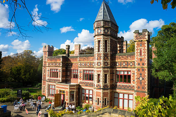 Saltwell Towers - Saltwell Park stock photo