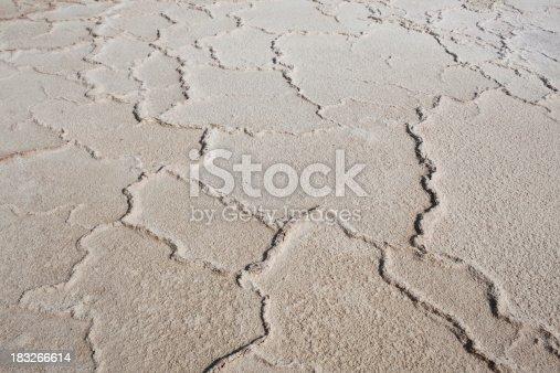 Muddy salt of Dead sea.