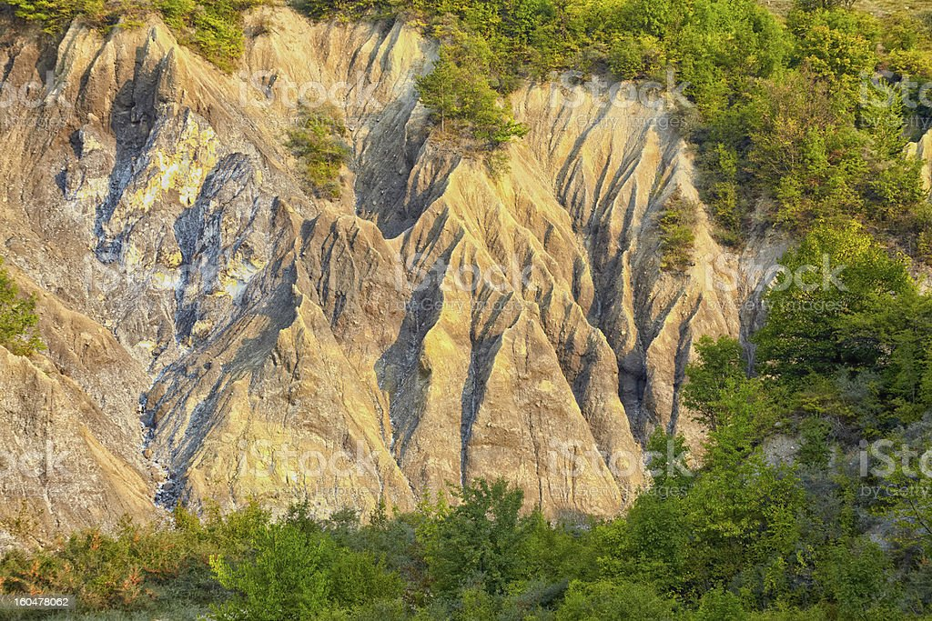 Salty hills in Buzau county royalty-free stock photo