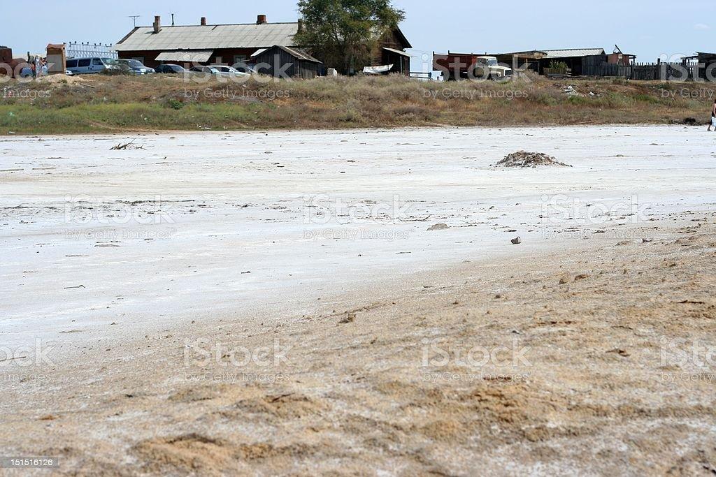 salty lake Baskunchak royalty-free stock photo