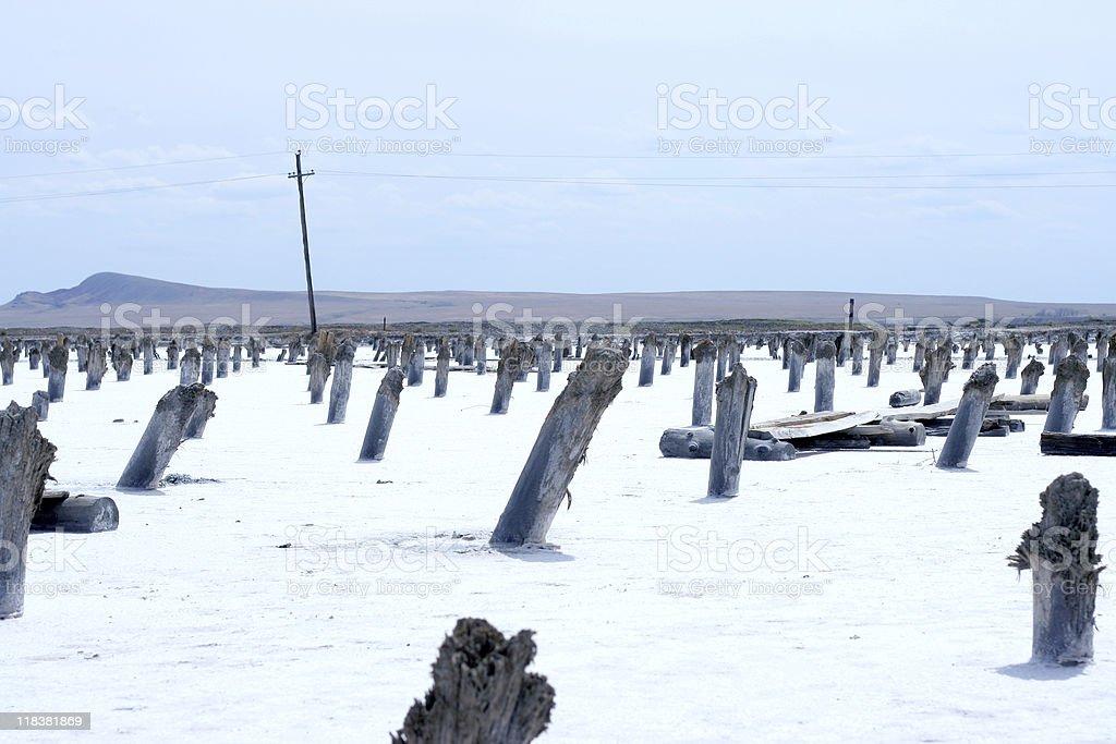 salty lake royalty-free stock photo