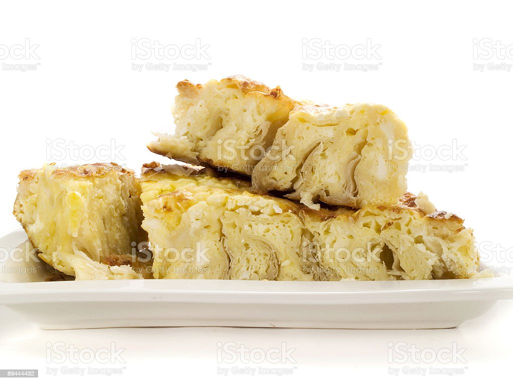 Salty pancake royalty-free stock photo