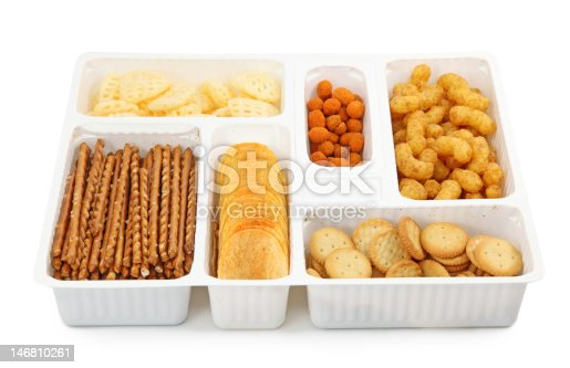 istock Salty snacks in box 146810261