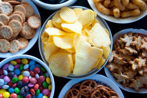 Salty Snacks 照片檔及更多 不健康飲食 照片