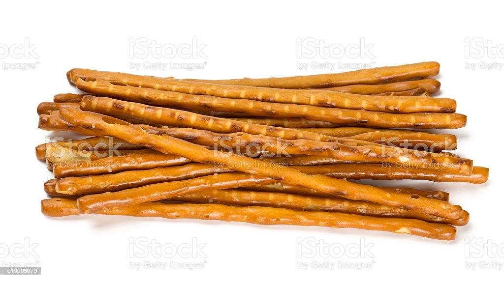 salty sticks isolated on white stock photo