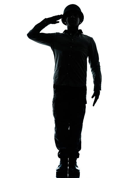 salute from army solider for the troops - saluting stock photos and pictures