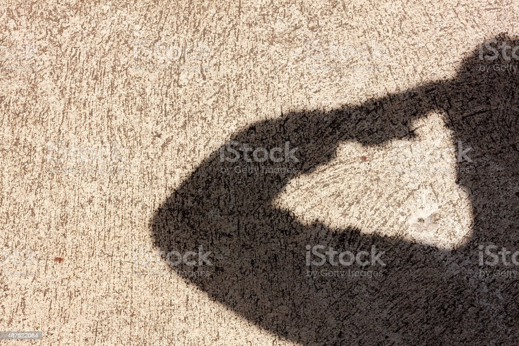 Salute shadow background. stock photo