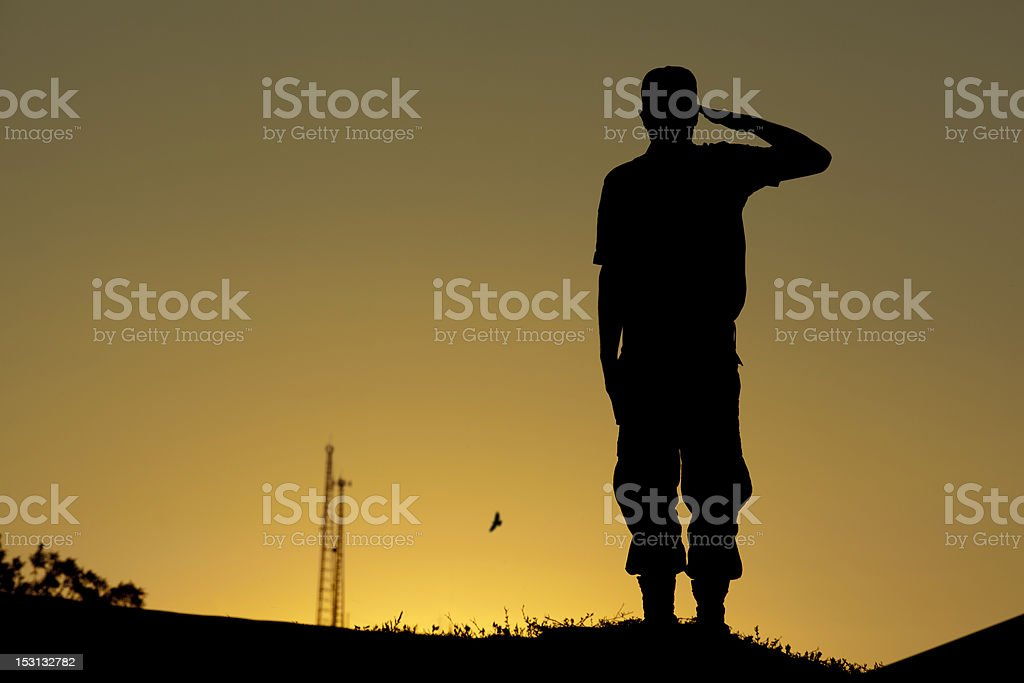 Salute, Soldier stock photo