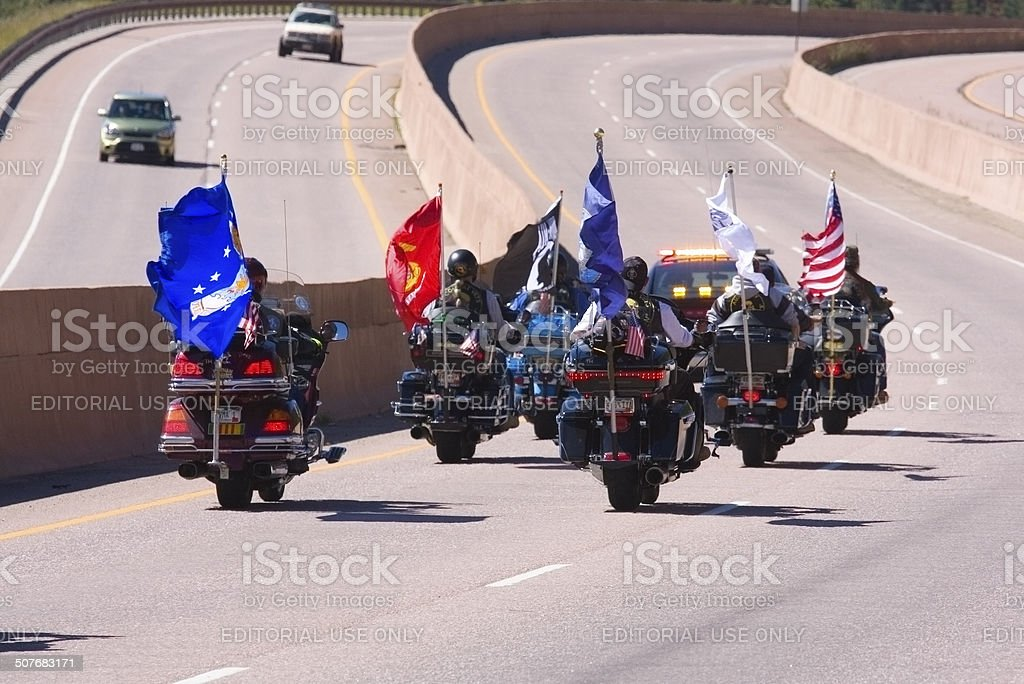Salute to Veterans Motorcyle Rally at Pikes Peak stock photo