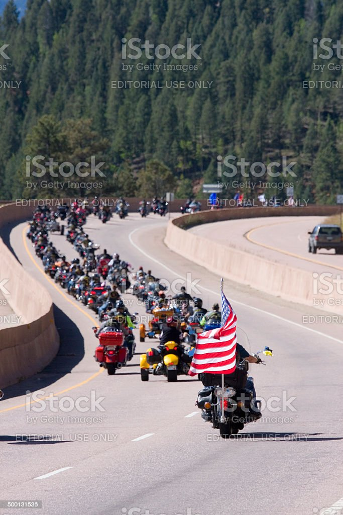 Salute to Veterans Rally stock photo