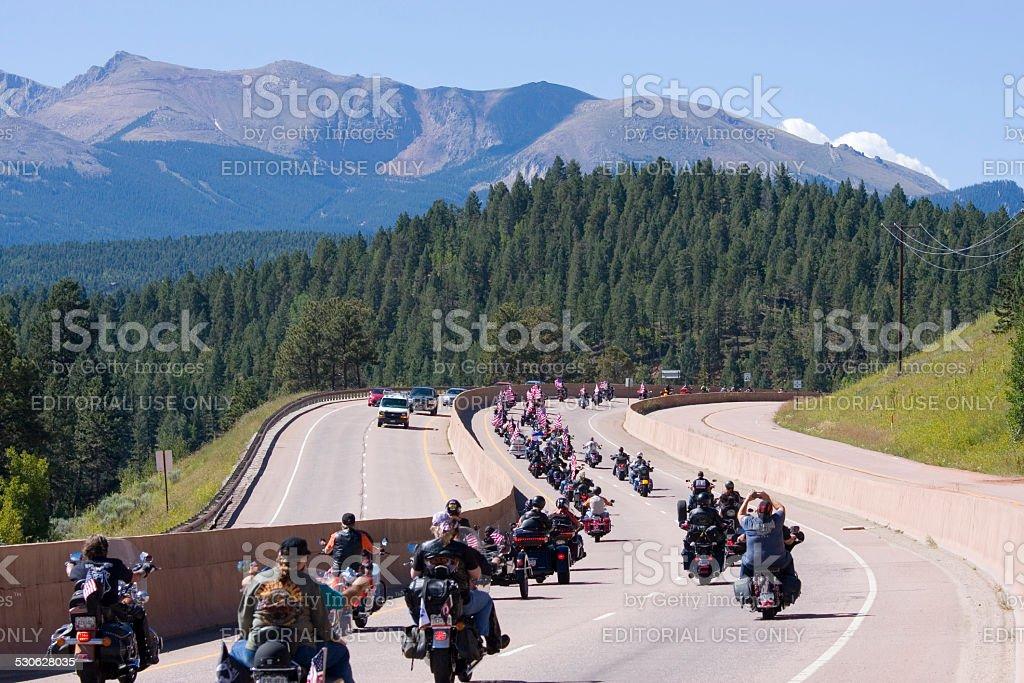 Salute to Veterans Rally stock photo