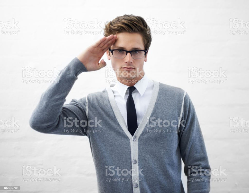 I salute your technical knowledge stock photo