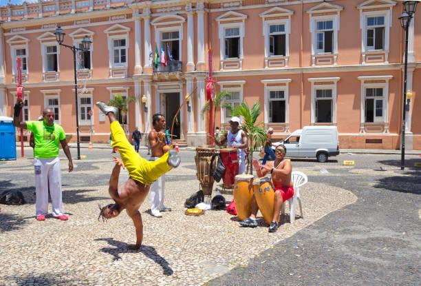Salvador, Brasilien, Capoeira auf den Straßen. – Foto