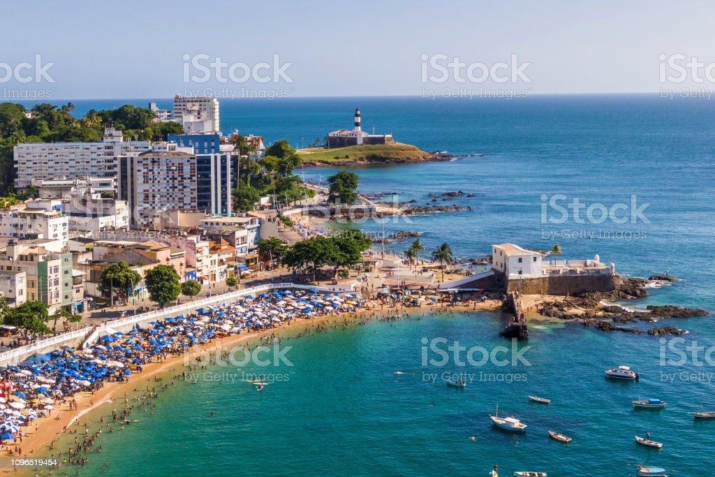 Salvador Da Bahia Brazil Aerial View Of Porto Da Barra