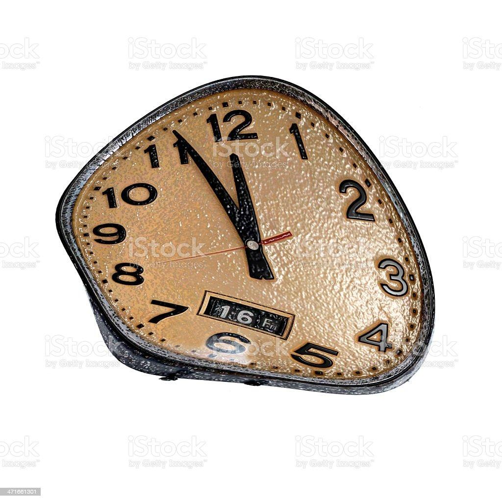 Salvador Dali clock stock photo
