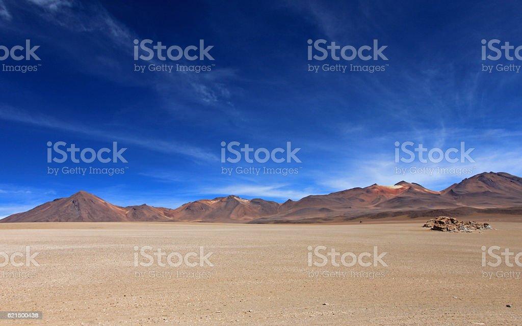 Salvador Dali desert and colorful mountains in Bolivia Lizenzfreies stock-foto
