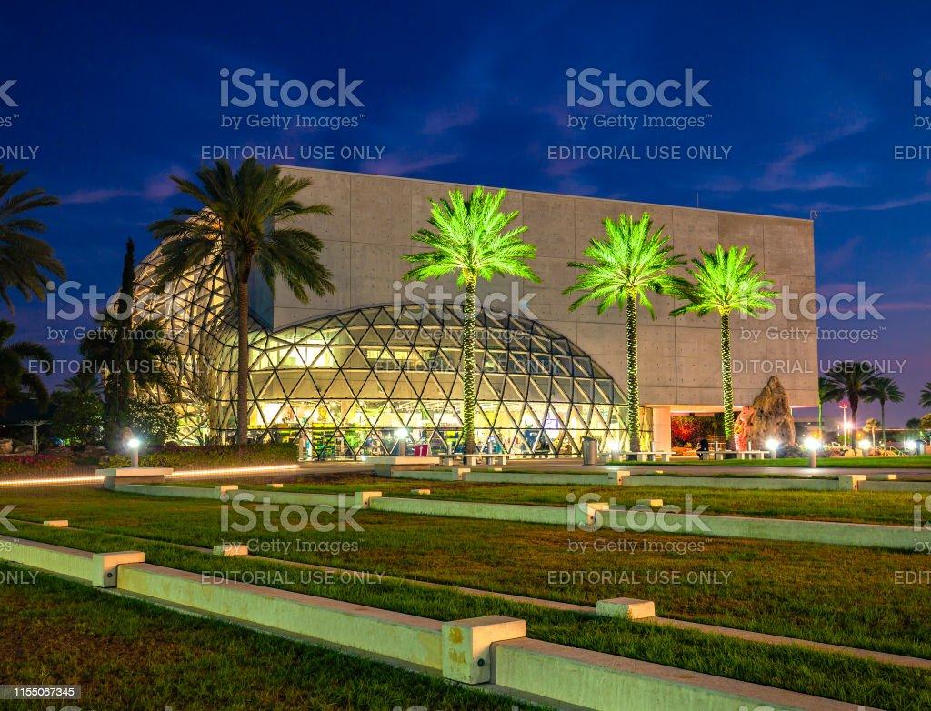 Salvador Dali Museum In St Petersburg Florida At Night Stock