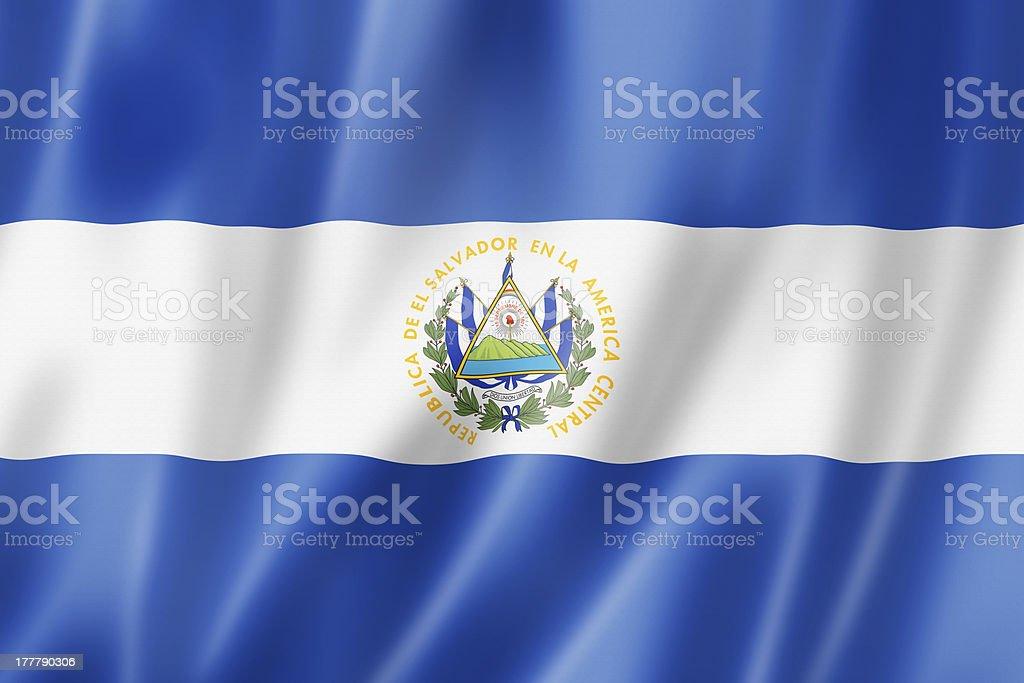 Salvadoran flag stock photo
