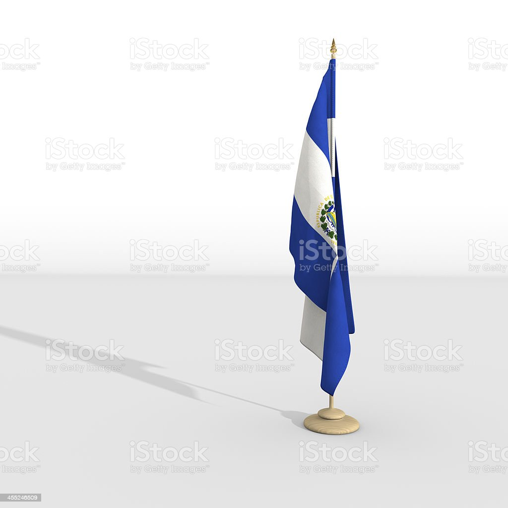 salvadoran flag royalty-free stock photo
